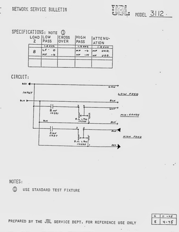 The Network Schematics Of Jbl  U30cd U30c3 U30c8 U30ef U30fc U30af U56de U8def U56f3 Sound Design Roxx